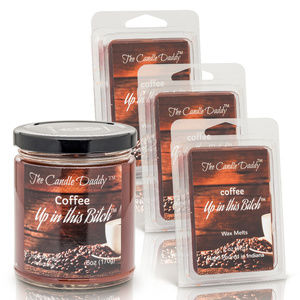 Funny Coffee Candle 4 pack -3 Wax Melts - 1 candle
